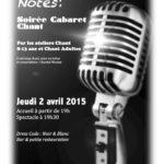 Affiche Cabaret Chant